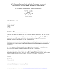 Interview Thank You Letter Examples Stand Out