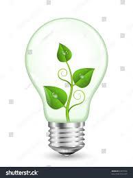 Green Energy Lighting Green Energy Concept Eps 10 Vector Illustration Stock Vector