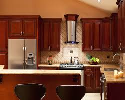 Cherry Bar Cabinet Kitchen Colors With Cherry Cabinets Black Metal Oven Under Cabinet