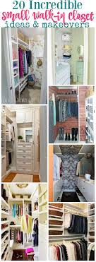 Walk In Closet 20 Incredible Small Walk In Closet Ideas Makeovers The Happy