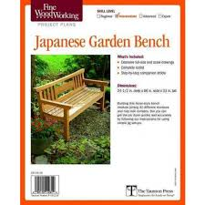 Image Table Woodworking About This Item Target Fine Woodworkings Japanese Garden Bench Plan pamphlet Target