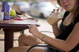 Teens addicted to coffee beverages