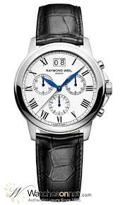 raymond weil tradition 4476 stc 00300 men s stainless steel raymond weil tradition chronograph quartz men s watch stainless steel white dial 4476