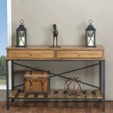 industrial metal and wood furniture. Industrial Metal Console Table Studio Rustic Wood And Vintage Look Cross Furniture