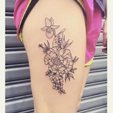 april birth flower tattoos golfclub