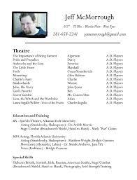 Theatre Resume Template Word Stunning Theatre Resume Template Word Best Resume Collection