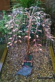 copper tree is a rain chime this copper tree water fountain also