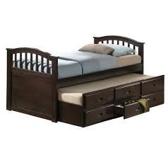 San Marino Dk Walnut Finish Twin Bed Trundle byAcme Furniture