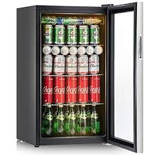 Vending Machine Fridge Simple Amazon Costway 48 Can Beverage Refrigerator And Cooler Mini