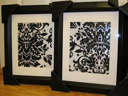 on damask framed wall art with dwell with style framed gift wrap paper