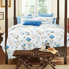 western country style flowered bedding set queen king size bright color deep purple light green