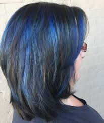 Subtle Blue Highlights 16 Most Amazing Blue Black Hair Color Looks Of 2019