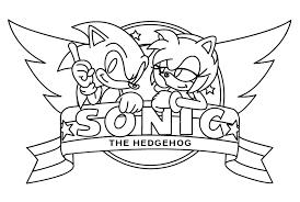 Kleurplaat Sonic Sega 1331