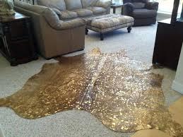 gold metallic cowhide rug canada