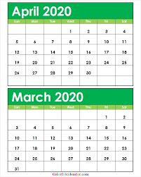 April May 2020 Calendar Printable Editable April May 2020 Calendar Color Blank 2020 Calendar