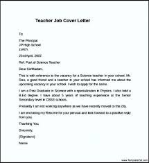 Cover Letter For Science Teacher Application Professional Resume