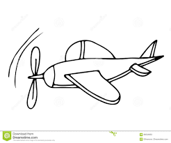 black line airplane for coloring book stock vector ilration of cartoon graphic