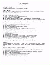 Roles And Responsibilities In Resume Examples Creative 2016