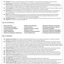 Sample Performance Testing Resume Free Www Freewareupdater Com