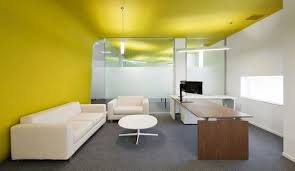 Image Trendy Does Anyone Even Notice Yellow As Color Modern Office Color Scheme Pinterest Modern Commercial Interiors How To Fit Out Busy Offices A3 Lobby