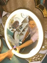 Gương dây da đèn led cảm ứng vân tay thông minh