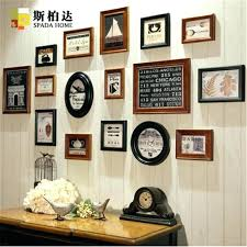 square wall frames set classic round picture fashion brown photo frame wedding white 12x12