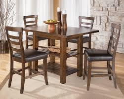 solid wood dining room table elegant pinderton counter height table and four stools of solid wood