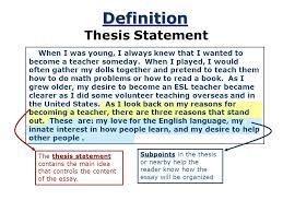 a road map for your essay ppt video online  4 definition thesis statement