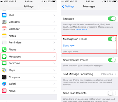 How Do I Sync My Messages To Icloud The Iphone Faq