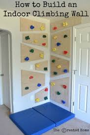 do it yourself climbing wall