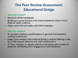 effective learning through peer review does student peer review the peer review assessment educational design why peer review