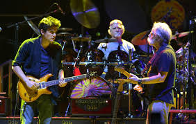 john mayer bill kreutzmann and bob weir of dead company are pictured performing in