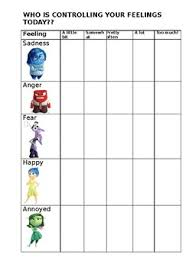 Inside Out Feelings Chart Printable Inside Out Feelings Chart By The Savvy School Counsellor Tpt