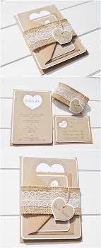 Burlap And Lace Wedding Invitations Etsy