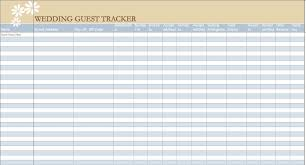 Wedding Guest List Template Excel Download Examples And Forms