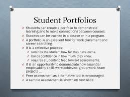 Student Portfolios Portfolio Development Ppt Download