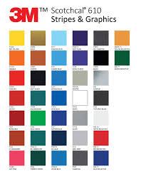 Colour Chart Custom Striping