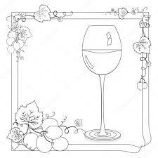 Wijn Kleurplaat Stockfoto Smk0473 129162148