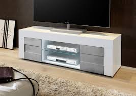 Napoli Small TV Unit - Gloss White/Grey finish