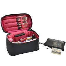 amazon travel makeup bags small cosmetic case organizer for women black beauty
