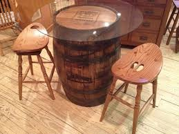 image of jack daniels whiskey barrel table and chairs