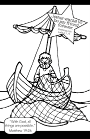 Fishing With Jesus Coloring Page Yahoo