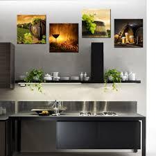 Us 2248 11 Off4 Panel Zeitgenössische Kunst Rotwein Barrel Hd Gedruckt Moderne Home Decor Wandbilder Für Küche Esszimmer Dekoration 30x30cmx4 In