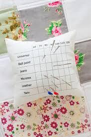 Sewing Needle Holder Pincushion With Needle Type Size Chart
