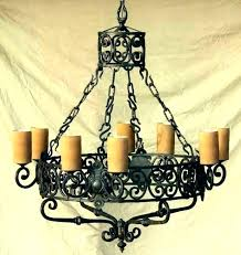electric candle chandelier crystal non lamp wrought iron chandeliers el