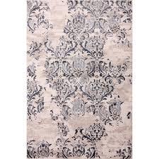 5 ft x 8 ft majestic cream rectangular indoor area rug carpet art deco