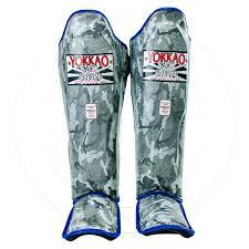 yokkao grey army shin guards d31