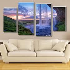 aliexpresscom  buy modular waterfall wall art painting iceland