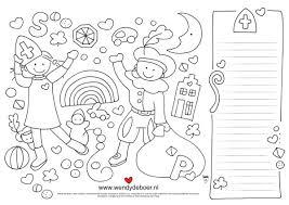 Wendy De Boer On Twitter Sinterklaas Kleurplaat Printen Kleuren