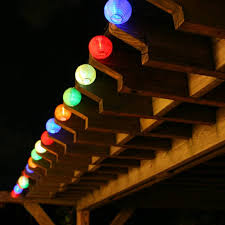 backyard string lighting ideas. Patio Led Lighting Idea With Colorful Globe Shade Lights Backyard String Ideas